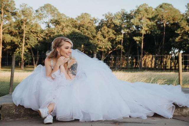 Allure beaded top ballgown wedding dress
