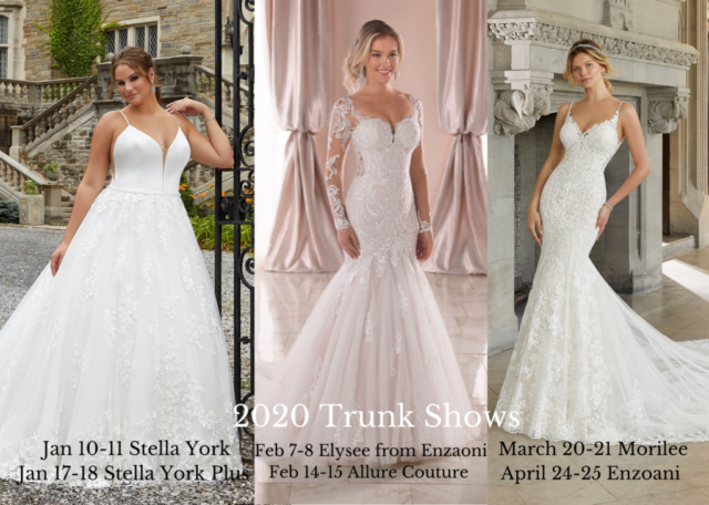 bridal dresses trunk show